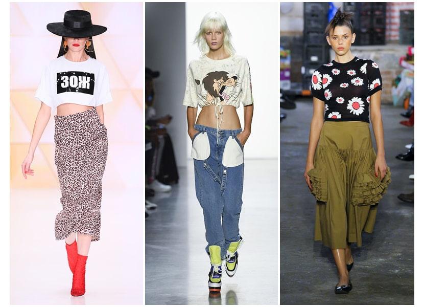 Фото с разными видами модных футболок