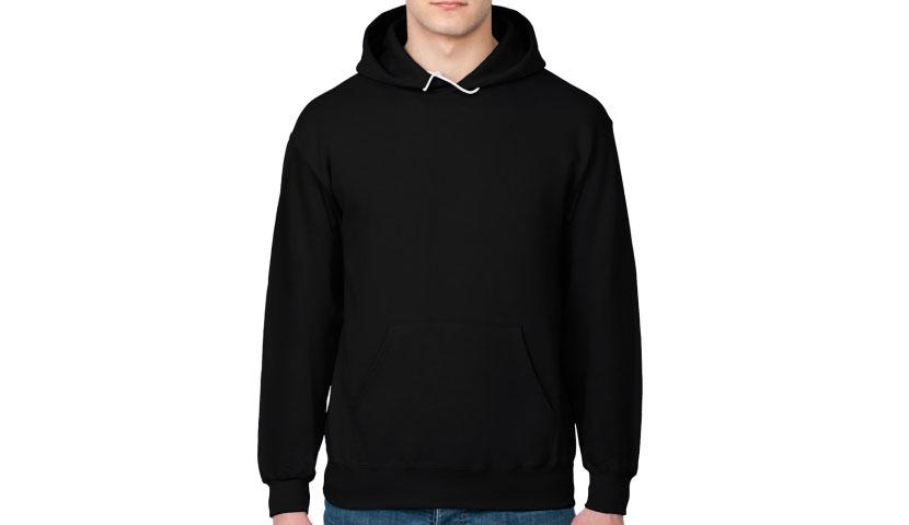 Фото черной мужской толстовки с карманами