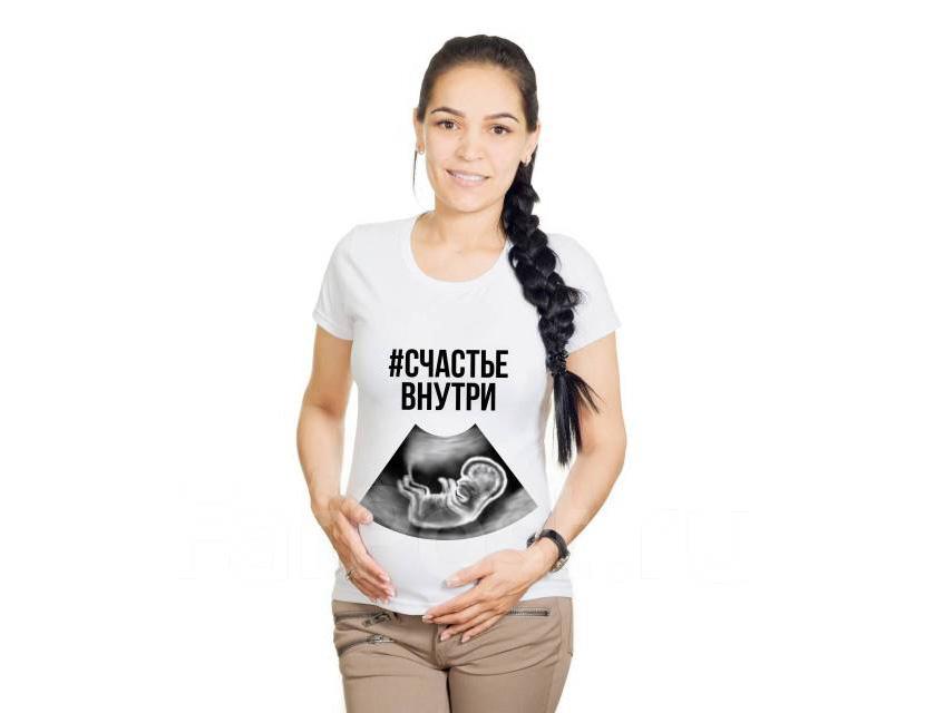 Фото футболки для беременной с изображением снимка УЗИ