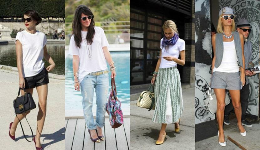 Фото со стильными луками для девушек, в которых есть футболки