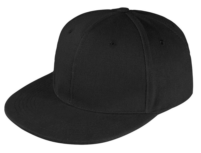 Изображение черной кепки с прямым козырьком