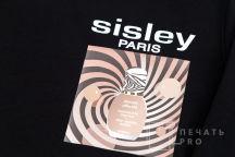 Черные свитшоты с логотипом «Sisley»