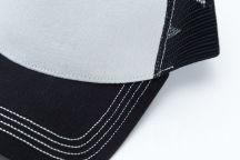 Двухцветные бейсболки с логотипом «ЛОГО»