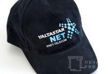 Черные бейсболки с логотипом «YALTASTAR»