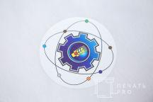 Печать логотипа и надписи