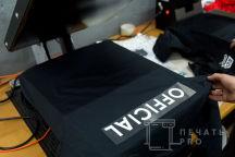 Черные классические рубашки с логотипами и надписью «OFFICIAL»
