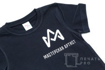 Xерные футболки с логотипом «МАСТЕРСКАЯ АРТИСТ»