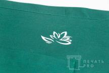 Зеленые укороченные фартуки с логотипом в эко-стиле
