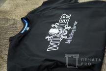 Черные футболки с логотипом «WINNER»