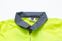 Нанесение текста «ЭРИС СТРОЙ» на куртки