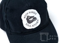 Черные бейсболки с логотипом «Wook burger»