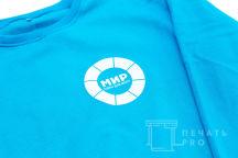 Голубые свитшоты с логотипом «МИР»
