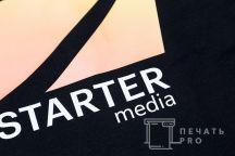 Черные футболки-поло с логотипом «Starter»