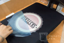 Черные футболки с логотипом «SKSTEKLO»