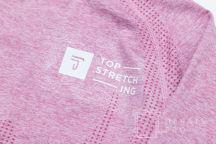 Розовые спортивные топы с логотипом «TOP STRETCHING»