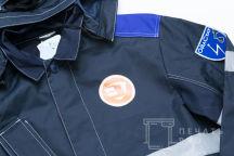 Синяя куртка с логотипом «Braer строй»