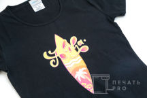 Черные хлопковые футболки с изображением «ALOHA»