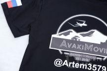 Черная футболка с логотипом «AvakiMovie»