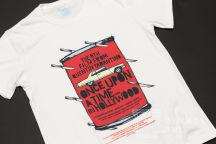 Белая футболка с картинкой «Однажды в Голливуде»