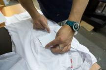 Белые халаты с логотипом «bloom»
