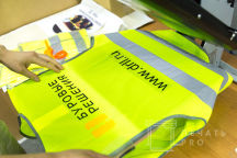 Желтые сигнальные жилеты с текстом «Буровые решения»