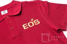Красные футболки-поло с текстом «Big Boss»