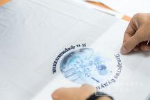 Белые футболки с логотипом «Я и фармакология»