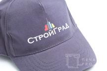 Серые бейсболки с логотипом «СТРОЙГРАД»