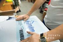 Белые футболки с логотипами «ИНТАЙМ», «REHAU»