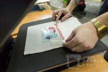 Белые льняные эко-сумки с картинкой и надписью «Женатики»