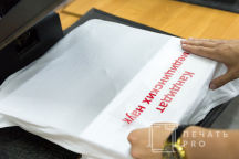 Белые футболки с логотипом «МНИОИ им.ГЕРЦЕНА»