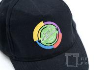 Черные бейсболки с логотипом «Еда в стакане»