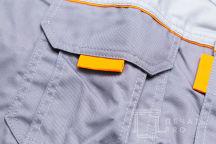 Серые куртки с логотипом в виде двухцветного пятиугольника