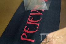 Черная толстовка с фото «PELEVIN»