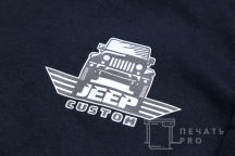 Черный свитшот с логотипом «JEEP CUSTOM»