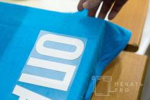 Голубые футболки с надписью «ОПАС»