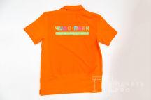 Оранжевые футболки-поло с логотипом «ЧУДО ПАРК»