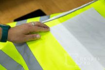 Желтые сигнальные жилеты с логотипом «POLZONE»