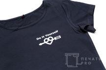 Черные футболки с логотипом «DO IT YOURSELF»