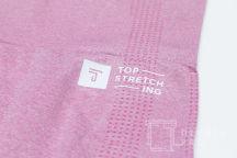 Розовые спортивные леггинсы с логотипом «TOP STRETCHING»