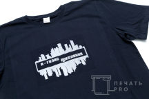 Черные футболки с логотипом «Я ГОЛОС ПОКОЛЕНИЯ»