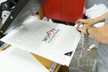 Серые обувные мешки с логотипом «ЖИВУ С КУЛЬТУРОЙ»