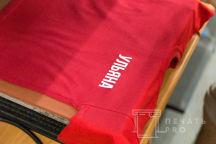 Красные детские футболки с текстом «УЛЬЯНА»