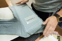 Серые блузки с логотипом «i lunch»