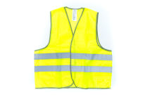 Желтые сигнальные жилеты с логотипом «Эко-тех»