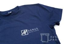 Синие футболки с логотипом «MAGNUS»