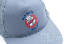 Серые бейсболки с логотипом «Охотники за дефектами»