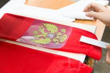 Красные гетры с изображением «Герб»