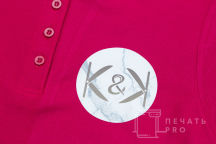 Бордовые футболки-поло с логотипом «К&K »