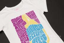 Белая футболка с картинкой «Алиса в стране чудес»